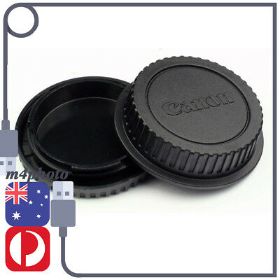 Rear Lens + Body Front Cap Cover For Canon Eos EOS EFS EF EF-S EF DSLR SLR