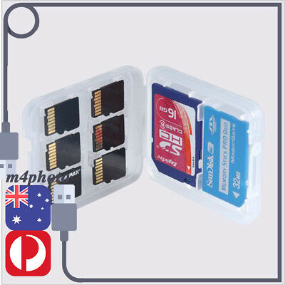 8 in 1 Memory Card Holder Protection Box MICRO SD TF SDHC Stick Storage Case