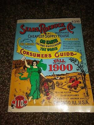 Vintage Sears, Roebuck and Co. Fall 1900 Catalog, 1970 Reprint- Department Store