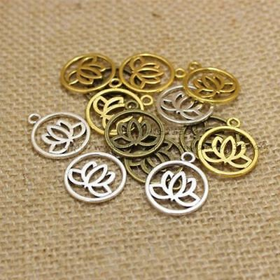 50 Pieces/lot Antique Look Solid Color Charms For Jewelry Making
