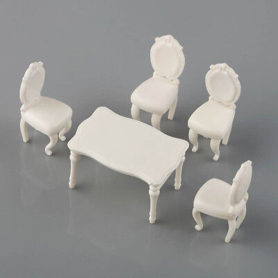 2 Sets 1:20 G Scale White Square Dining Table Chair Settee Railway Model