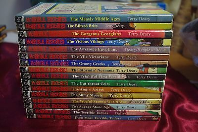 16 X Horrible Histories Books - Good Condition
