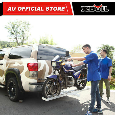 IKURAM Aluminum Motorcycle Carrier Motorbike Hitch Rack and Ramp trailer