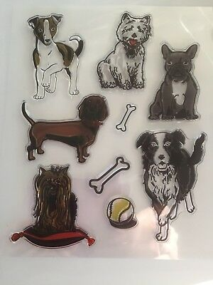 NEW• DOGS on SHOW STAMP SET Clear Unmounted Stamping Craft Stamps
