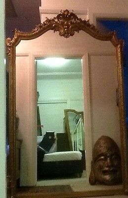 Large And Impressive Antique French Gilt Mirror