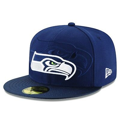 Adult Cap 7 3/8 Seattle Seahawks Official 2016 On Field New Era 59FIFTY M159