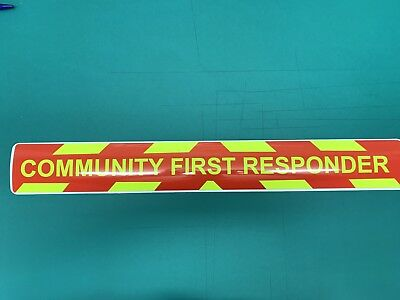 Magnetic sign COMMUNITY FIRST RESPONDER (style2) dayglo vehicle emergency