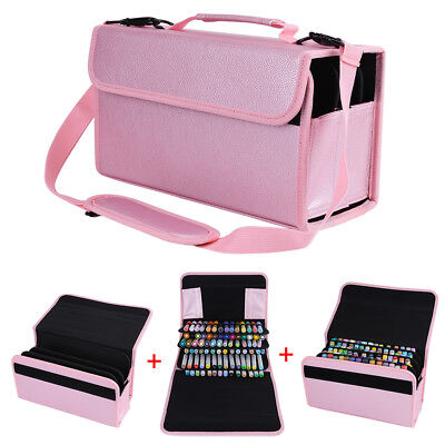 84 Slots Large Multi-layer Marker Pen Carrying Bag Storage Case Holder Portable