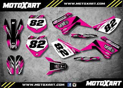 YCF 125 custom graphics kit DIGGER PINK style / decals / stickers