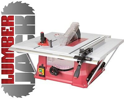 "Lumberjack TRADE 10"" Bench Table Saw 250mm with 3 Extension & TCT Blade 240v"