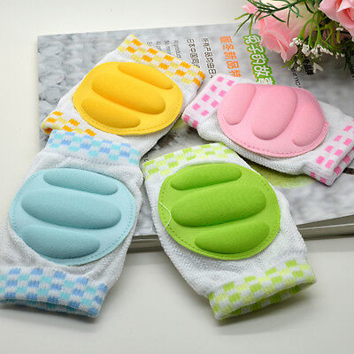 Toddler Baby Kids Protective Crawling Knee Elbow Pads Knee Guard Cotton Material