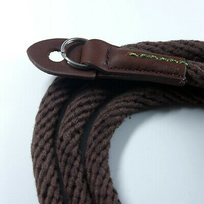 Brown Woven Cotton Rope Camera Strap with ring connection by Cam-in (95cm)