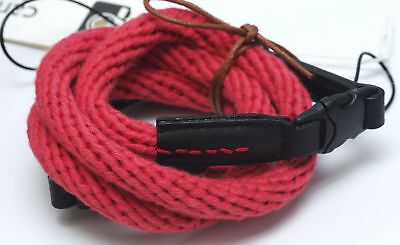 Light red Woven Cotton Rope Camera Strap with loop connection by Cam-in - 95cm
