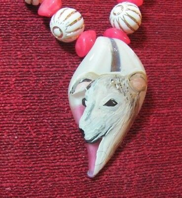 Whippet hand painted on a Murano glass leaf pendant/bead/necklace