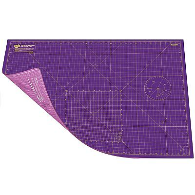A1 Double Sided Self Healing 5 Layers Cutting Mat Imperial/Metric Royal Purple