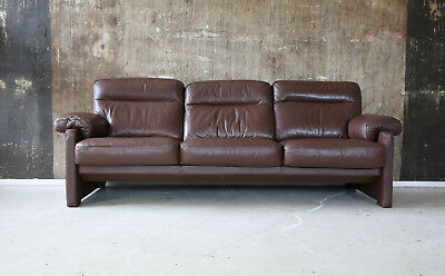 De Sede Ds 70 3-Sitzer Ledersofa 3-Seater Leather Sofa Desede Braun Brown