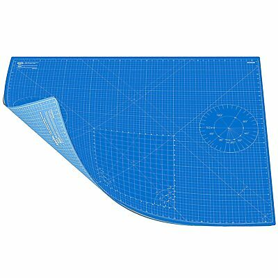 ANSIO A0 Double Sided Self Healing 5 Layers Cutting Mat Metric/Imperial Sky Blue