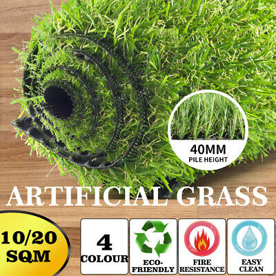 10/20/40 SQM Synthetic Turf Artificial Grass Plastic Plant Fake Lawn Flooring