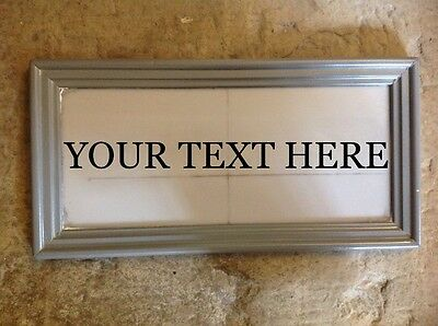 """SOLID LEAD HOUSE BESPOKE NAME PLAQUE. """" YOUR TEXT  """" 30mm lettering"""
