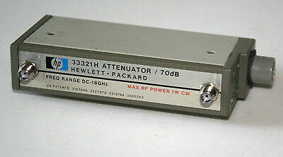 HP Agilent 33321H attenuator 70 dB in 10 dB steps, coils activated by 24 V DC.