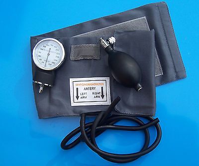 SPHYGMOMANOMETER - pressure meter and cuff set in leatherette carry bag -unboxed