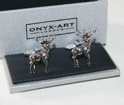 Cufflinks - STAG Deer Standing Design * New * Gift Boxed
