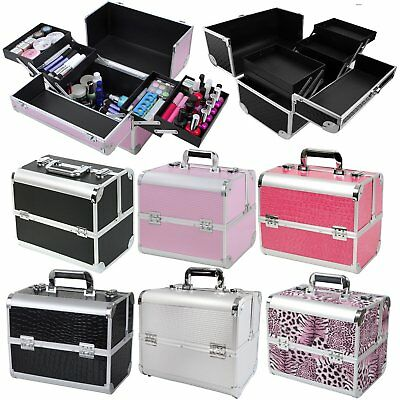 Professional Vanity Case Nail Tech Make Up Box Beauty Cosmetic Large Storage