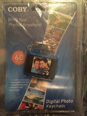 Coby Dp151 Digital Photo Keychain New Holds Up To 60 Pictures