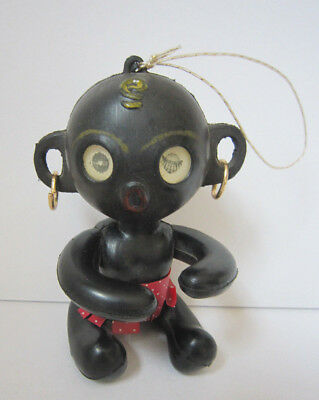 "Vintage Black Americana 4"" Winking Doll Toy Figure Tribal Native"