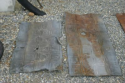 ANTIQUE (Metal) tin ceiling tiles Capitol DC (2) pieces  52 sq, Victorian