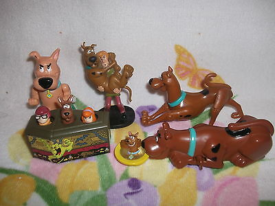 6 Scooby Doo Toys  inc Jointed Figure 3 Burger King Wind-Ups  PVC figure & ring