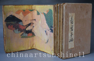 Chinese Old Paper diagram Book art deco Painting Belle picture Collectible Ancie