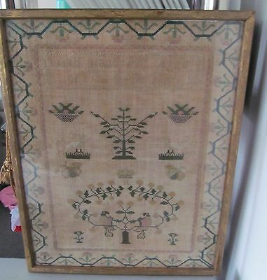 Antique framed sampler 1812