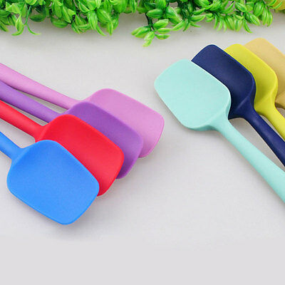 Silicone Spoon Utensil Heat-Resistant Non-Scratch Spatula Cooking Baking Tool N