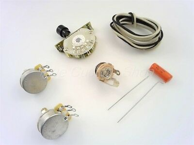 True Custom Shop® 4-Way Wiring Kit For Fender Tele CTS Oak Switch Switchcraft US