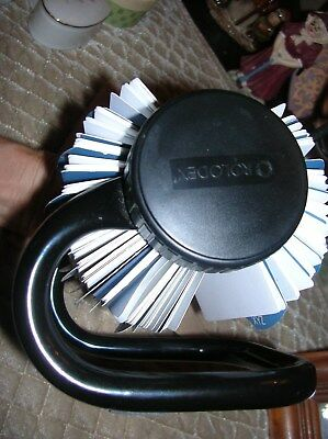 Vintage Rolodex Black Metal Base Roll Style Telephone/card File W/tabs & Cards