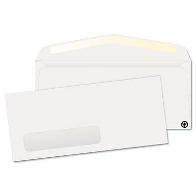 Quality Park Window Envelope #10 4 1/8 x 9 1/2 White Recycled 500/Box 21316