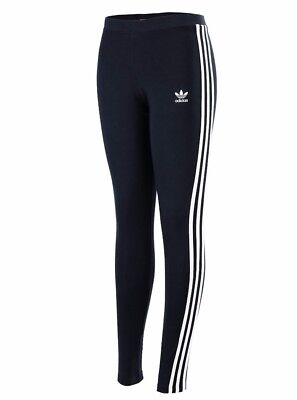 Brand New Bp5246 Women Adidas Original 3 Stripes Leggings ! Navy New With Tag