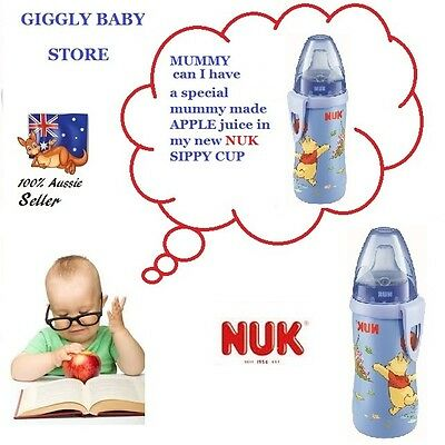 Nuk Sippy Cup Baby Toddler 300ml Winnie pooh Active Non Spill Spout 12 months