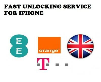 Unlocking Service For Iphone 4,5,5S,5C,6,6+  Ee Tmobile & Orange Uk Service