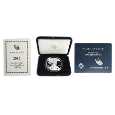 2012-W Proof $1 American Silver Eagle Box OGP & COA