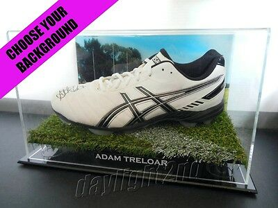 ✺Signed✺ ADAM TRELOAR Football Boot PROOF COA Collingwood Magpies 2018 Guernsey