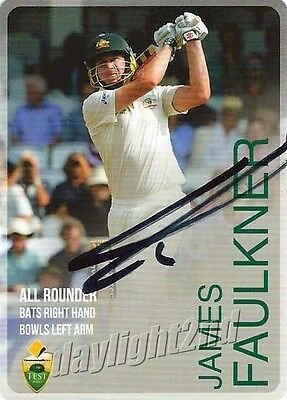 ✺Signed✺ 2014 2015 AUSTRALIAN Cricket Card JAMES FAULKNER Big Bash League