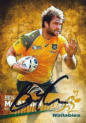✺Signed✺ 2016 WALLABIES Rugby Union Card BEN MCCALMAN