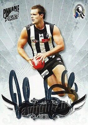 ✺Signed✺ 2009 COLLINGWOOD MAGPIES AFL Card NATHAN BROWN