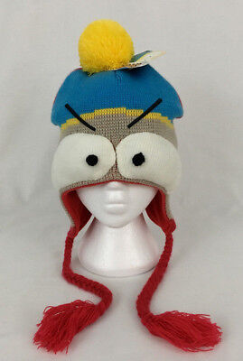 Spencer Gifts South Park Cartman Character Knit Stocking Cap Pom Pom Tassels New