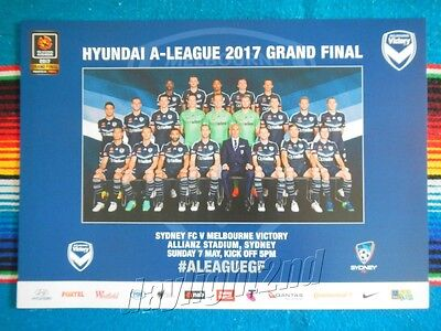 ✺New✺ 2016-17 MELBOURNE VICTORY Grand Final Poster - 42cm x 29.5cm 2017