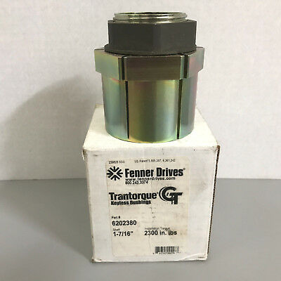 "NIB Fenner Drives 6202380 1 7/16"" Trantorque Keyless Bushing"