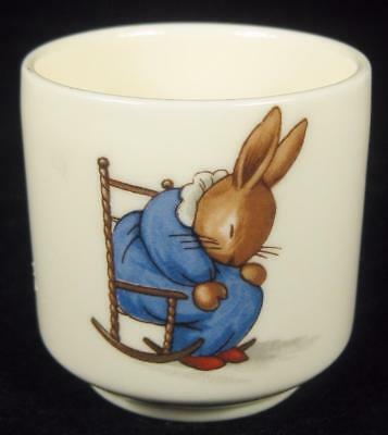 Royal Doulton Bunnykins Sleepy Bunny & Playing Dolls Egg Cup 1968-75