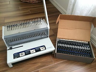 Ibico KOMBO MANUAL BINDING MACHINE w/ bonus assortment of combs